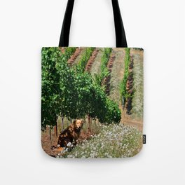gracie in the vineyard Tote Bag