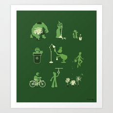 Going Green Art Print