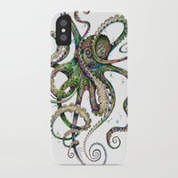 shower iPhone & iPod Cases featuring Octopsychedelia by TAOJB