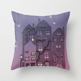 Midnight Teaparty Throw Pillow