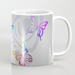 Big Butterflies with grey background Coffee Mug