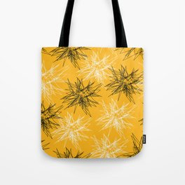 Yellow Squiggles Tote Bag