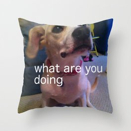 what face Throw Pillow