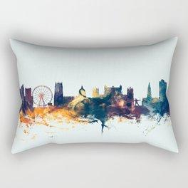 Nottingham England Skyline Rectangular Pillow