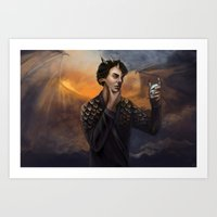 smaug Art Prints featuring Smaug by Juli Grey