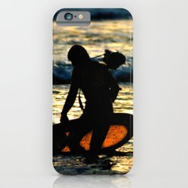 Greenough going out to film at sunset iPhone Case