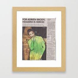 Adrien Brody is Tripping Balls Framed Art Print