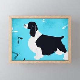 English Springer Spaniel Dog Framed Mini Art Print