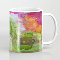 safari Mugs featuring Safari by Heather Plewes Art