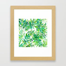 GREEN CANOPY Framed Art Print