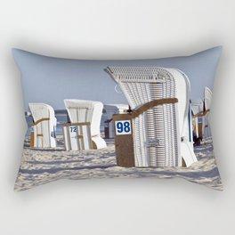 White Beach Chairs Rectangular Pillow