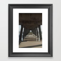 Tybee Island Beach, Savannah, GA Framed Art Print