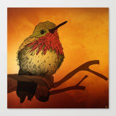The Sunset Bird Canvas Print