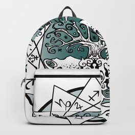 Gate and Key 13 Sign Astrology Backpack