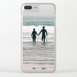 surf love Clear iPhone Case