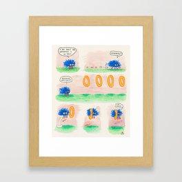 Sonic Goes Fast Framed Art Print