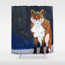 Lunar Kitsune Shower Curtain