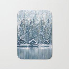 Winter's Cottage (Color) Bath Mat