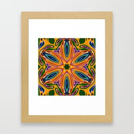 flowerstar Framed Art Print