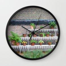 Pots and plants Wall Clock