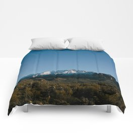 The Snow Covered Superstitions Comforters