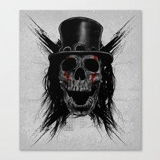 Skull Hat Canvas Print