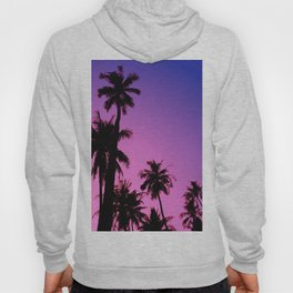 Tropical palm trees with purplish gradient Hoody
