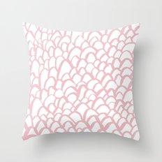 Blushing / Painted pattern Throw Pillow