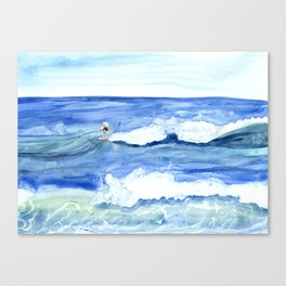 """""""Surfing"""" Watercolor on yupo paper Canvas Print"""