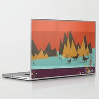wolves Laptop & iPad Skins featuring Wolves by Kakel
