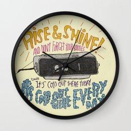 GROUNDHOGGIN' Y'ALL Wall Clock