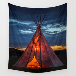 Southwestern Teepee Sunset Wall Tapestry