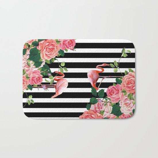 tropical flamingo Bath Mat