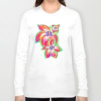 hibiscus Long Sleeve T-shirts featuring Hibiscus by Teri Newberry