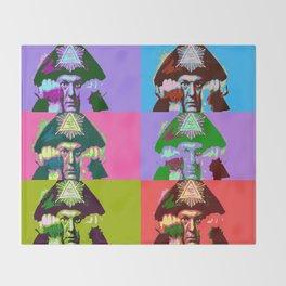 Aleister Crowley Pop Art Throw Blanket