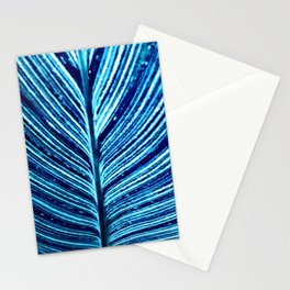 Feather Leaf in Blue Stationery Cards