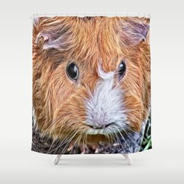Painted Guinea Pig 5 Shower Curtain