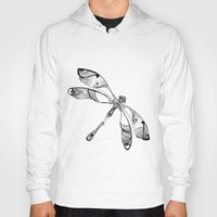 dragonfly Hoodies featuring Dragonfly by Moran Bazaz