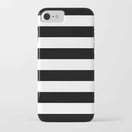Black White Stripe Minimalist iPhone Case