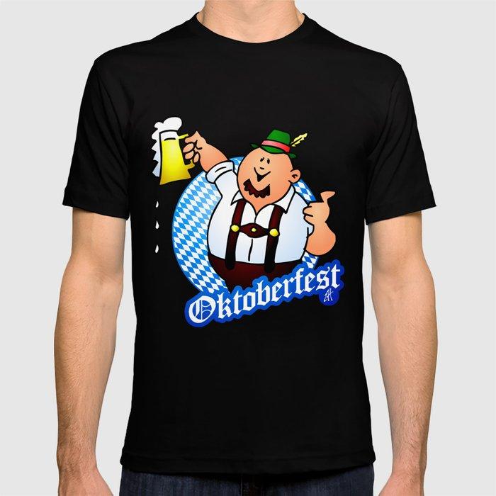 Oktoberfest - man in lederhosen T-shirt