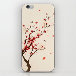 Oriental plum blossom in spring 005 iPhone Skin