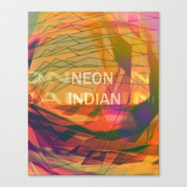 neon indian Canvas Print