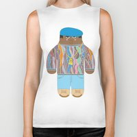 biggie Biker Tanks featuring Biggie by Late Greats