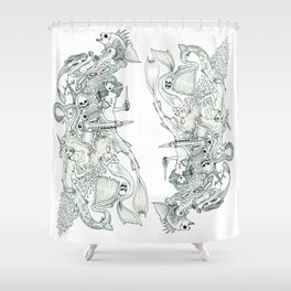 Tigerfish (Wonderful Mess Series) Shower Curtain