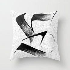 Fraktur-e Throw Pillow