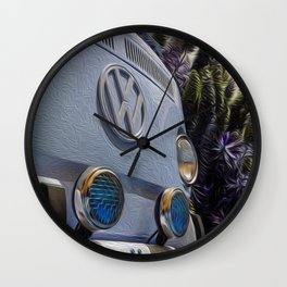 BusLife in Blue Brushstrokes Wall Clock