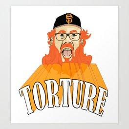 San Francisco Baseball Torture Art Print