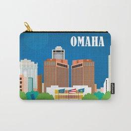Omaha, Nebraska - Skyline Illustration by Loose Petals Carry-All Pouch