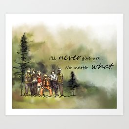 Team 7 Never Give Up Art Print