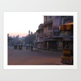 An Indian Morning in Mysore (India & Travel) Art Print